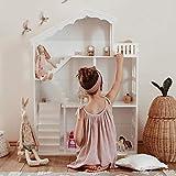 WUHUHAI Bibliothèque en bois pour maison de poupée, bibliothèque pour enfant, 3 étages, étagère de rangement pour chambre à coucher, salon, jardin d'enfants
