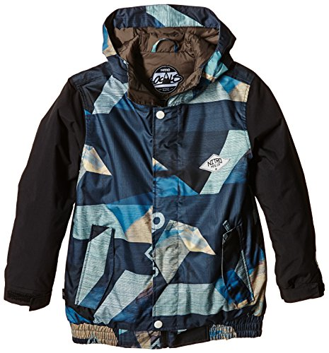 Nitro Jungen Snowboard-Jacke Boys Squaw Jacket 15, Photo Print Black, M