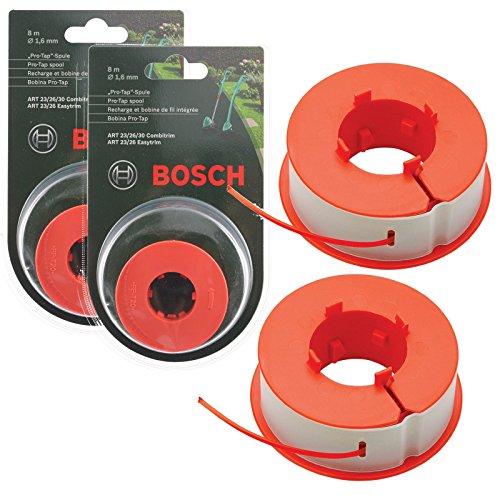 """Bosch """"Pro-Tap"""" Spule, 16 m, für Rasentrimmer, Originalteil, passend für Bosch ART 23/26/30 Combitrim, Easytrim (F016800175)"""