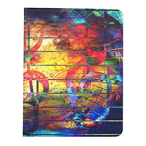 ZHANGhome Case For Ipad Pro 11 Inch 2nd & 1st Generation 2020/2018 IpadPro11FolioCover Beautiful Abstract Colorful Collage Music Notes CoversForIpadPro Support Ipad 2nd Gen Pencil Charging