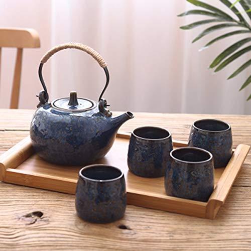 Teaware Cafe Sala de Estar de la Familia Vintage Tetera de cerámica Taza de té Taza de café Simple Oficina Creatividad K