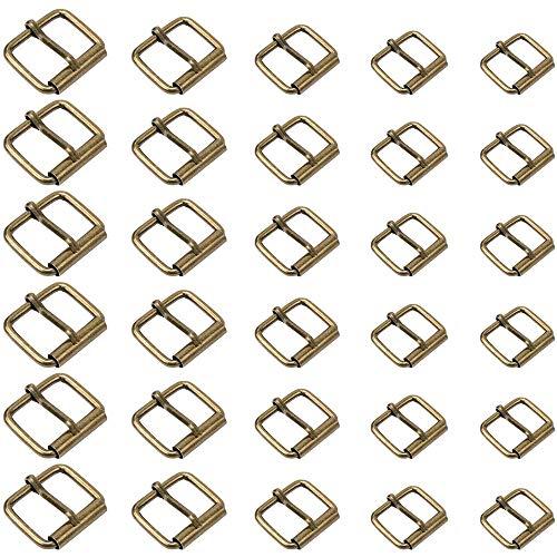 75 Piezas Hebillas de Rodillo de Metal Hebillas de Hebilla de Rodillo de Metal Hebillas de Pasador de Rodillo para Bolsos Cinturones de Cuero Hebillas Accesorios Artesanales 5 Tamaños