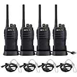 Retevis RT21V MURS Radio,2 Way Radios Walkie Talkies Long Range, 5 Low Traffic Channels, Replaceable Antenna, Adjustable Range, for Outdoor and Open Business Area(4 Pack)