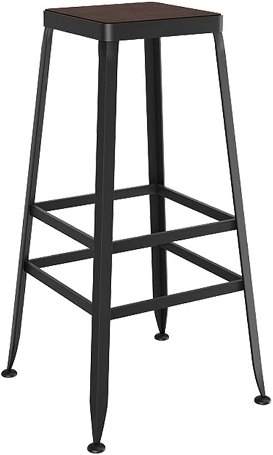 Hai Yan Boutique European Bar Stools Solid Wood Wrought Iron Bar Stool Bar Stool Chair High Stool Bar Stool (color   K)