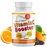 Vitamin C-2000mg + Zinc 500mg + L-Lysine + Bioflavonoids | Maximum Immune System Booster (60 Capsules) Essential Nutrients | High Antioxidants | Gluten-Free| Non-GMO | Vegan-Friendly, 2 Month Supply