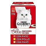 Purina Gourmet Mon Petit conmida para gatos con Pato, Pollo y Pavo 8 x [6 x 50 g]