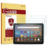 [3 Pack] OMOTON Screen Protector for All-New Fire HD 8/Fire HD 8 Plus/Fire HD 8 Kids (10th Generation - 2020 Released), Tempered Glass/High Definition / 9H Hardness