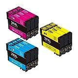 Cartuchos de tinta 29 XL compatibles con Epson 29 29XL para Epson Expression Home XP-235 XP-245 XP-247 XP-255 XP-257 XP-332 XP-335 XP-352 XP-342 XP-345 XP-455 (paquete de 9)