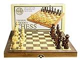 House of Marbles 255558 - Juego de ajedrez (Madera, Tablero Plegable)