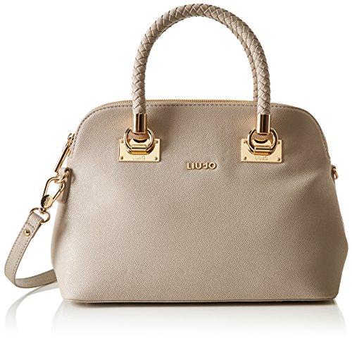 LIU JO ANNA Shopping media a due scompati in ecopelle TORTORA CHIARO N17083