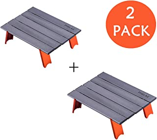 Camping Folding Table Picnic Table Ultralight Outdoor Foldable Table in Bag 2 Pack