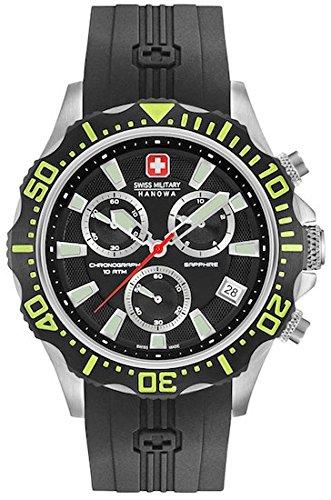 SWISS MILITARY-HANOWA Herren Analog Quarz Uhr mit Silikon Armband 06-4305.04.007.06