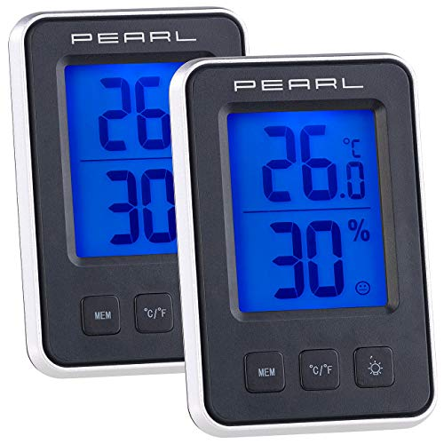 PEARL Raum-Hygrometer: 3er-Set Digitale Thermometer/Hygrometer, Komfortanzeige, LCD-Display (Hydrometer)