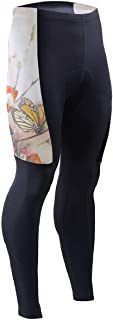 Tulips with Butterfly Mens Cycling Pants 3D Padded Mountain Bike Tights Cycle Trousers