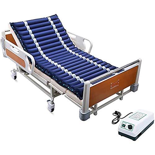 WLKQ Colchón antiescaras de Aire, para Pacientes Discapacitados Postrados En Cama Y Tratamiento De Dolor De Cama Cuidado De Las Caderas Cama Inflable De Aire - con compresor