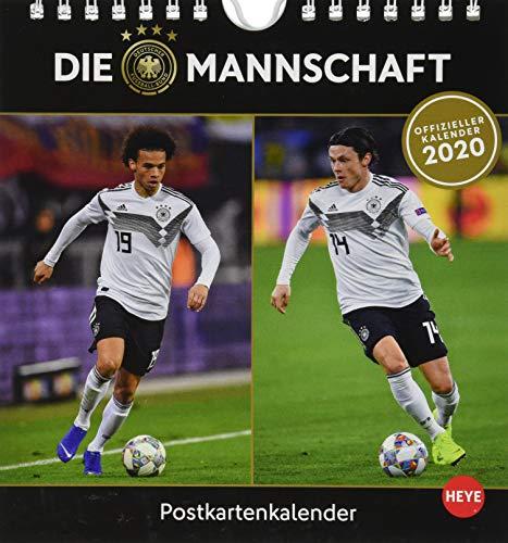 DFB Sammelkartenkalender. Postkartenkalender 2020. Monatskalendarium. Spiralbindung. Format 16 x 17 cm