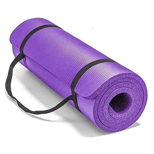 NFRADFM Esterilla de yoga, 10 mm gimnasio suave esterilla de yoga, antideslizante Sport Body Fitness Pad Esterillas de yoga para mujeres y hombres