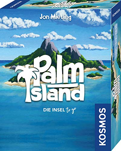 KOSMOS 741716 - Palm Island, Die Insel to go, Spielt sich bequem in einer  Hand, Kartenspiel für 1 bis 2 Spieler ab 10 Jahren
