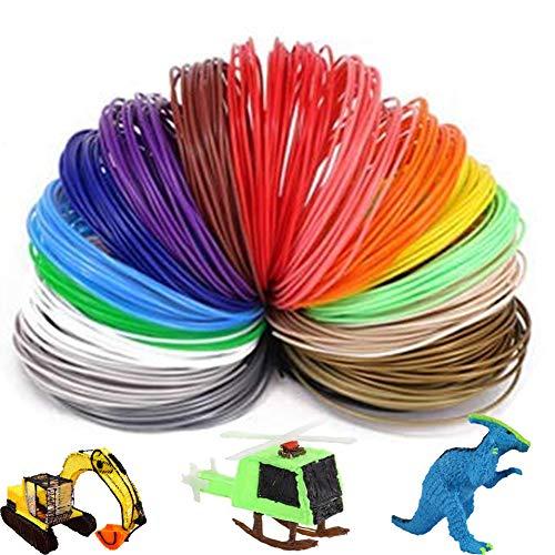 3D-Stift PLA Filament 1,75 mm Multicolor Paket mit 3D-Drucklinien (10 Farben x 5 m)