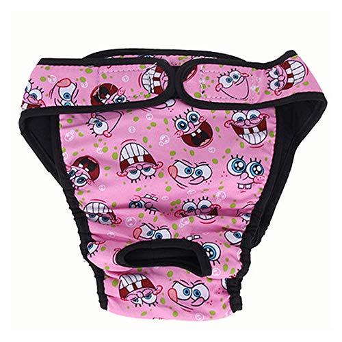 MuZhuo Grote Vrouwelijke Hond Puppy Huisdier Luier Broek Fysiologische Sanitaire Panty Ondergoed, XS, roze