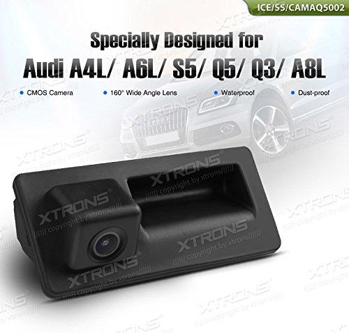 XTRONS Caméra de recul étanche pour Audi Q3, Q5, S5, RS6, VW Jetta, Passat