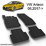 MYD Juego de alfombrillas de goma para VW_Arteon_Sedan_06.2017   inodoras   conducción izquierda   Alfombrillas de goma para todas las estaciones (delantera y trasera)   Protección resistente (negro)