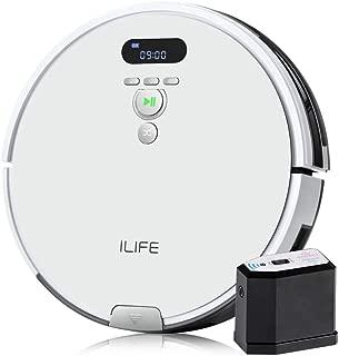 ILIFE アイライフ V8e ロボット掃除機 吸引力が強い ペットの毛に効果的 仮想壁付き 大容量ダストボックス フローティング吸引口 (V8e)