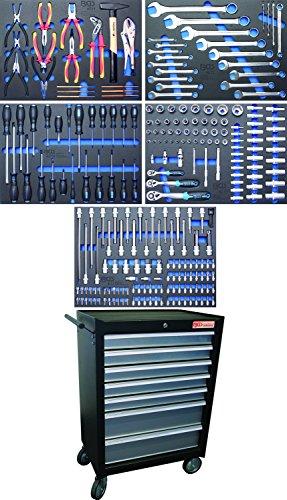 BGS 4060 | Werkstattwagen | mit 243 Werkzeugen | 7 Schubladen | gefüllt | abschließbar | massives...