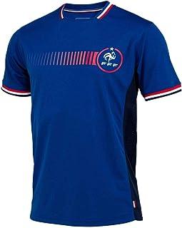 T-Shirt der französischen Nationalmannschaft FFF Poly, offizielles Lizenzprodukt, Blau.