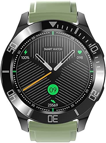 JSL Reloj inteligente para Android Ios llamadas Bluetooth Chat de voz con monitor de ritmo cardíaco/sueño Fitness Tracker 1 28 pantalla táctil completa IP67