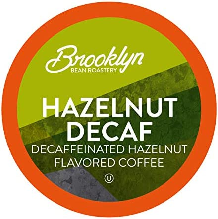 Brooklyn Beans Coffee Pods Compatible with 2 K Cup Brewers Hazelnut Decaf 40 Count product image