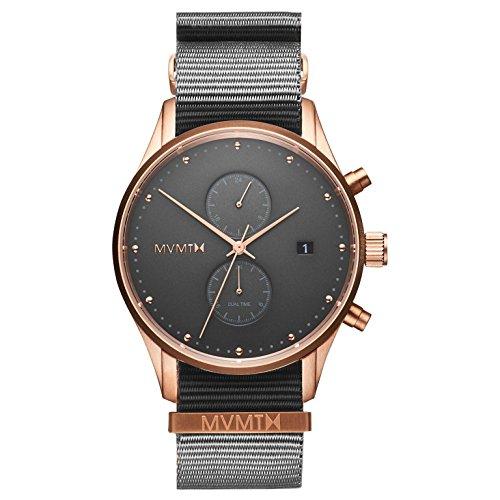 MVMT Herren Multi Zifferblatt Quarz Uhr mit Nylon Armband D-MV01-RGGR2