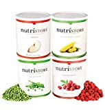 Nutristore Healthy Snack Variety Pack | Freeze-Dried Fruits & Vegetables | Amazing Taste & Quality | Eat Straight from Can | 25 Year Shelf Life