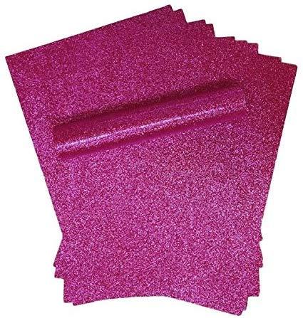 Glitzer-Papier, A4, Fuchsia, weich, dick, 150 g/m², 10 Blatt