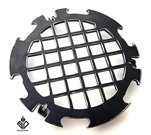 Becker Design Branding Grillrost 6mm für Feuerplatte   Plancha   Grillplatte mit 20cm Feuerloch
