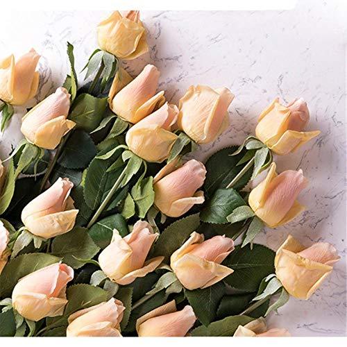 (11pcs / lot) verse roos kunstbloemen echte aanraking roos bloemen, home decoraties voor bruiloft of verjaardag, een champagne