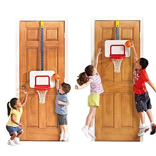 CXY-JOEL Inicio Aro de Baloncesto Montado en la Pared Soporte de Baloncesto Colgante Juguetes de Tiro para Interiores para Bebés 3 Ajustes de Altura 42-126 cm Lindo