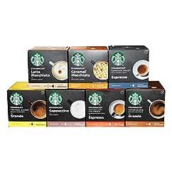 Nescafé Dolce Gusto Starbucks Set Alle Sorten, 7 x 12 Kapseln