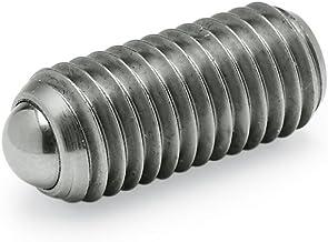 Ganter Normelemente GN 615.3-M6-KN 3-M6-KN-verende drukstukken met binnenzeskant, zilver, schroefdraad d1: M6, 5 stuks