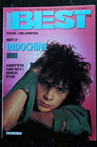 BEST 218 SEPTEMBRE 1986 INDOCHINE AUBERT HARD DECO BANGLES DYLAN