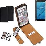 k-s-trade® custodia flipstyle per fairphone fairphone 3 copertina protettiva flip case flipstyle cover flipcover per smartphone c/bumper paraurti, nero (1x)