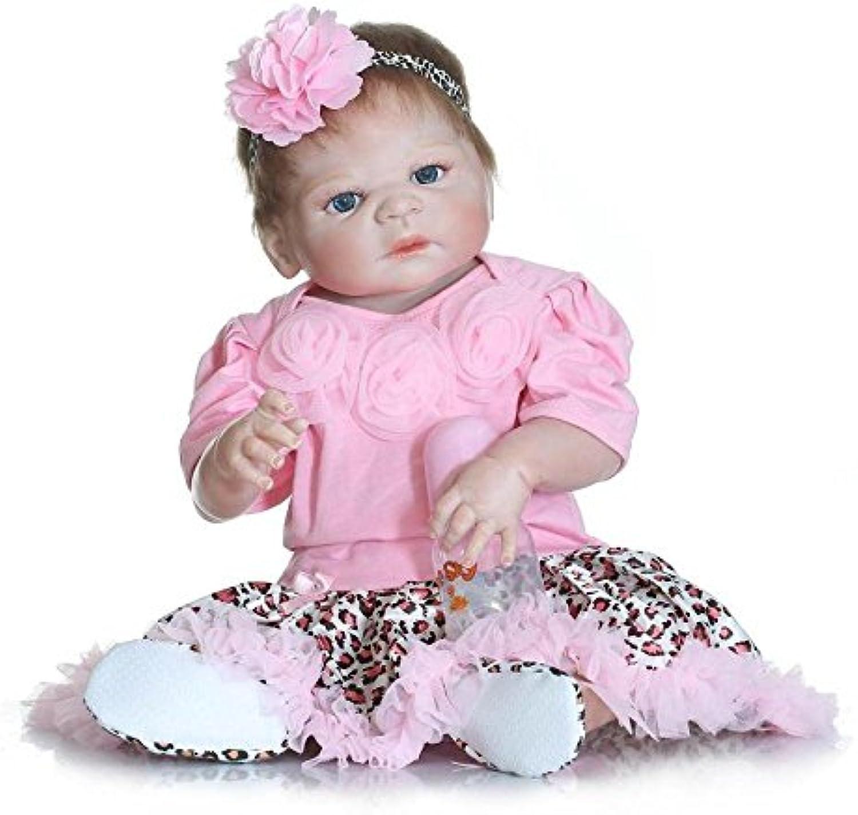 Reborn Babypuppen 22 Zoll 57cm Jungen Und Mdchen Zwillinge Ganzkrper Silikon Neugeborenen Reborn Puppen Baden Partner