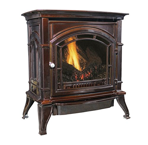 Best Price Ashley AGC500VFMN Vent-Free Mahogany Enameled Porcelain Cast Iron Stove, 31,000 BTUs (Nat...