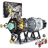 Technik Apollo 11 modelo de nave espacial, 7011 piezas Apollo Transporter juguete bricolaje construcción nave espacial juego de construcción juguete Compatible con Lego Apollo 11,70 * 40 * 43cm