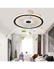 Dempen Plafondventilatorlamp met verlichting App en afstandsbediening Ultradunne 18CM Plafondlamp Onzichtbaar stil LED Dimbaar Plafondventilatoren Verlichting voor woonkamer Slaapkamer