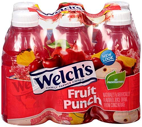 Welch's Fruit Punch 10 oz depot Sales of SALE items from new works Pack 6 -