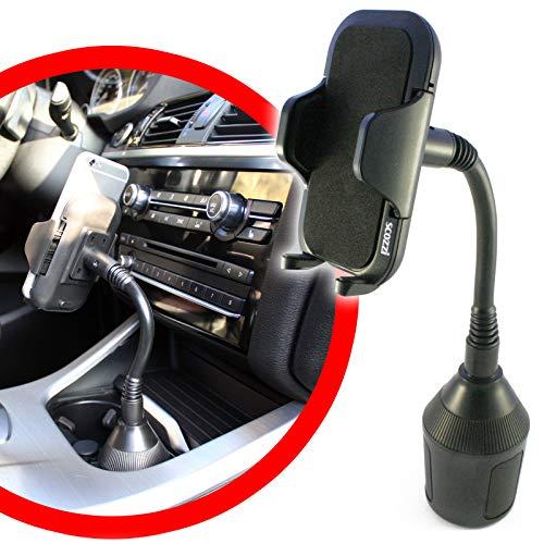 scozzi Universal Handyhalterung Auto Getränkehalter Schwanenhals Handy KFZ Halterung Halter (kompatibel mit Samsung,iPhone,Huawei) S21 S20 S10 S9 A71 A51 P40 P30 12 11 X XS XR Plus Ultra Mini Lite Pro