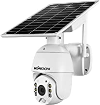 1080P Wireless Solar Panel Safety Camera Outdoor Waterproof SafetyCamera with Full Color Support PIR Human Detection,Two W...