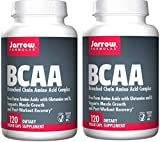 Jarrow Formulas BCAA (Branched Chain Amino Acid Complex) Free Form Amino Acids with Glutamine and B6 to Support Muscle Growth and Post-Workout Recovery (120 Veggie Caps) Pack of 2