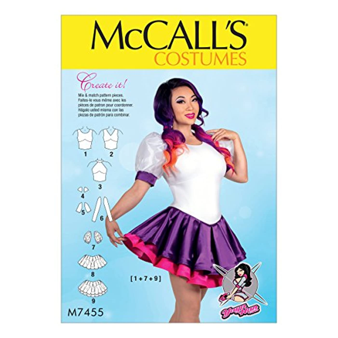 McCall's Patterns M7455A50 Misses Mix-and-Match Design Variations Skirted Leotards
